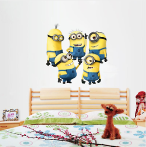 Image Is Loading 5 Minions Despicable Me 2 Wall Stickers Wall