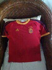 Vintage Rare Raúl #7 Adidas Spain Red Soccer/futbol  Jersey Size M Youth