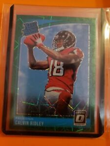 2018 Donruss Optic Calvin Ridley Rated Rookie Green Velocity HOLO PRIZM SP RC 🔥