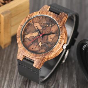 Orologio-in-legno-di-bambu-naturale-Unisex-Orologio-da-polso-in-legno-questo-design-legno-vero