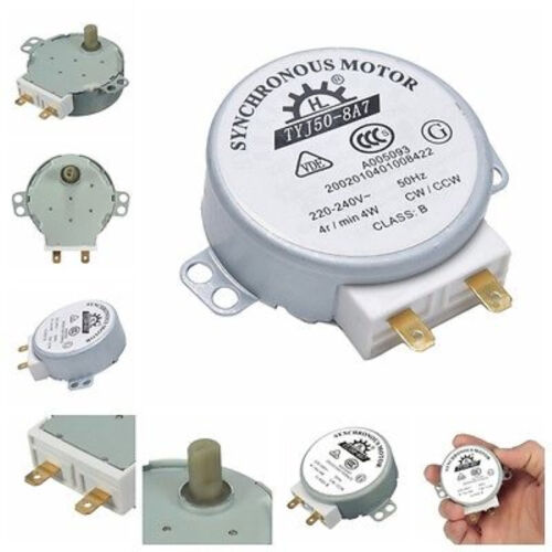 CW//CCW Microwave Turntable Turn Table Synchronous Motor TYJ50-8A7D Shaft 4RPM SP