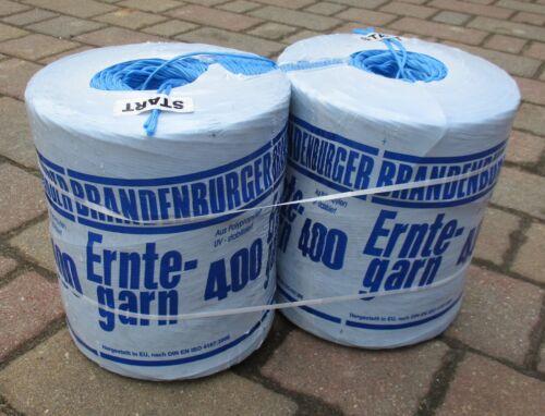 Brandenburger Erntegarn Typ 400 Bindegarn 10 kg 2 Rollen á 5 kg Garn Pressegarn