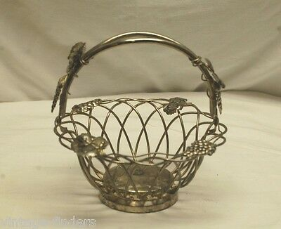 Vintage Godinger Silver Art Co Gsa Silver Plate Grape Leaf Design Fruit Basket Ebay