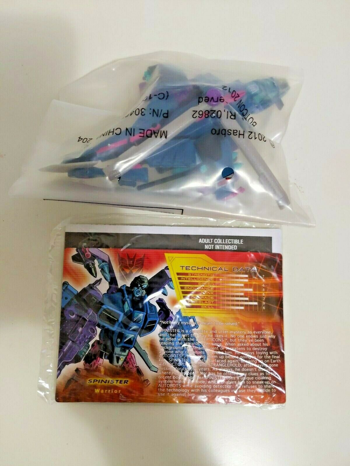 Transformers TFCC Botcon 2012 Shatterot Glass Spinister