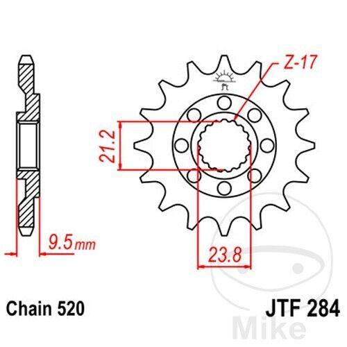 JT Front Sprocket 520 Pitch 15 Teeth JTF284.15 JTF284.15