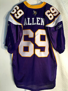Reebok Authentic NFL Jersey Minnesota Vikings Allen Purple sz 50 | eBay  supplier
