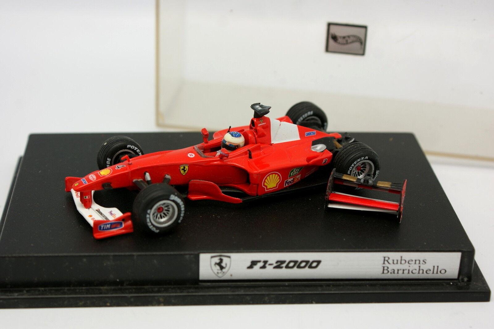 Hot Wheels 1 43 - F1 F1 F1 Ferrari F1 2000 Barrichello 1ec6c4