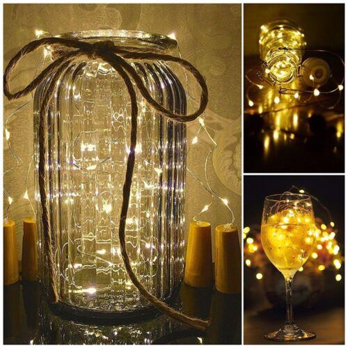 12 × 20 LED Weinflasche Kork String Light Nacht Lichterkette Party Flaschenlicht