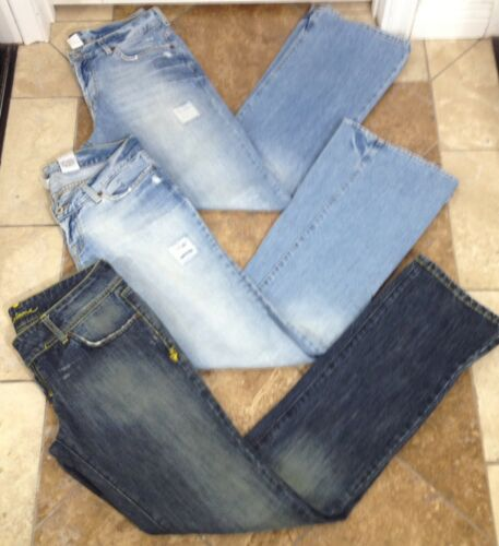 Lot 8 Womens Pants Sz Bootcut M Denim Blue 29 Distressed Jeans Corleone Lucky qZtPx