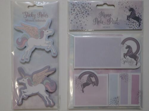 Unicorn Shaped Sticky Notes or Unicorn Memo Pad with Sticky Notes Choice of 2