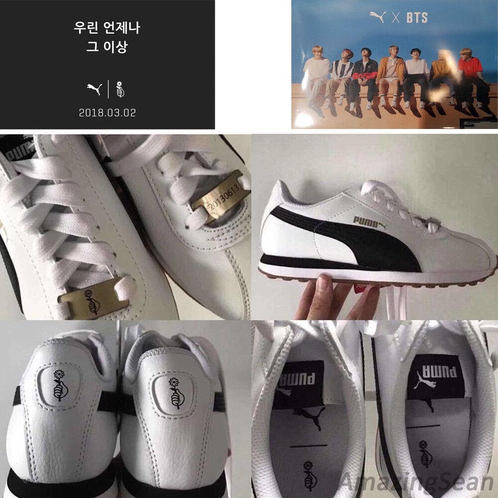 PUMA X BTS TURIN Schuhes + Photo Card, BANGTAN BOYS KPOP Zusammenarbeit Schuhe