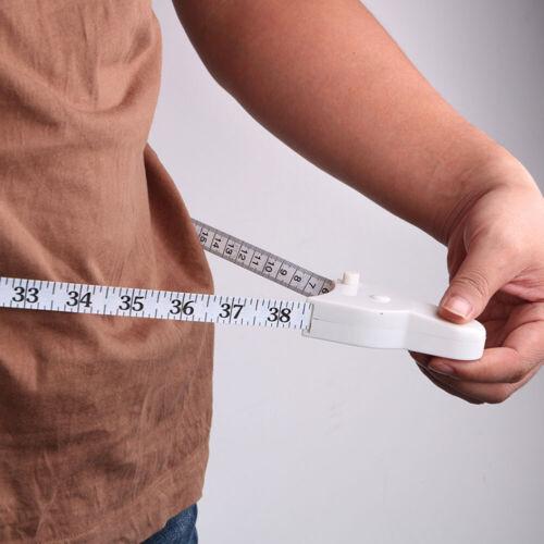 Weiß Maßband 150cm Mini Einziehbar Messwerkzeug Taillenumfang Nützlich