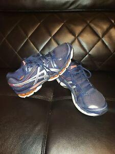 b3bd463044f Asics Gel-Evate 2 dark Blue Orange Athletic Running Shoe T4A2N Size ...