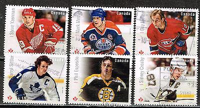 Analytisch Kanada Sport Berühmte Hockey Spieler Briefmarken 2015