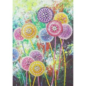 fast shipping free shipping US Seller blue flowers full drill diamond painting kit round drill 30x40cm