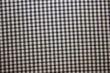 Gingham Poplin Print #5 Cotton Lycra Spandex Stretch Woven Apparel Fabric BTY