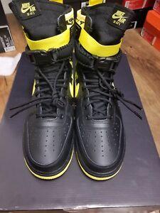 7d1d32af15ae9 Nike SF AF1 Air Force One High Dynamic Yellow Black Size 11 AR1955 ...
