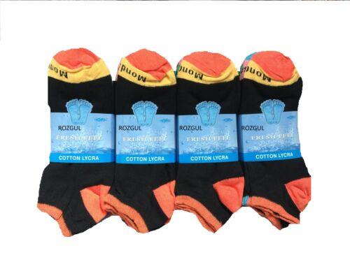 7 jours Pack Homme Antibactérien Sports Trainer Coton Lycra Chaussettes Taille UK 6-11
