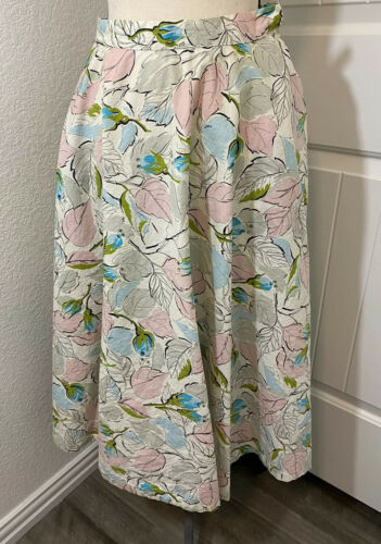 VTG 40/50's Jerry Gilden Spectator Skirt Leaves Rh