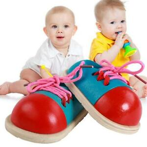 1pcs-Kids-Early-Montessori-Educational-Toy-Children-Toddler-Wooden-Lacing-Shoes