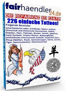 DOWNLOAD-226-EINFACHE-TATTOOS-Vorlagen-Delfine-Drachen-Feen-Flammen-Blumen-Chin