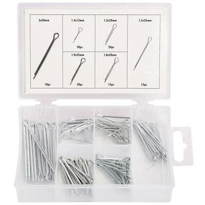 Doelstelling 100pc Assortment Box Of Cotter Split Pins / Retaining Clips