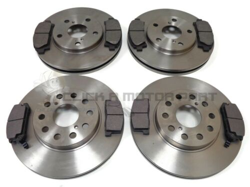 FRONT /& REAR BRAKE DISCS AND PADS FOR TOYOTA MR2 2.0 16V 1992-1999 NON TURBO