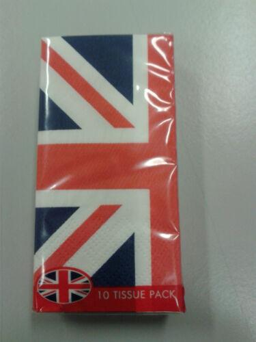 Contenu 10 pcs. 1 boîte mouchoirs-handkerchiefs L/'Union Jack