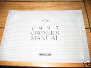 Sonstige Systematisch 1997 Mazda 626 Owners Manual Owner's Verbraucher Zuerst