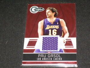Details about PAU GASOL LAKERS CERTIFIED AUTHENTIC GAME USED JERSEY BASKETBALL CARD #59/249