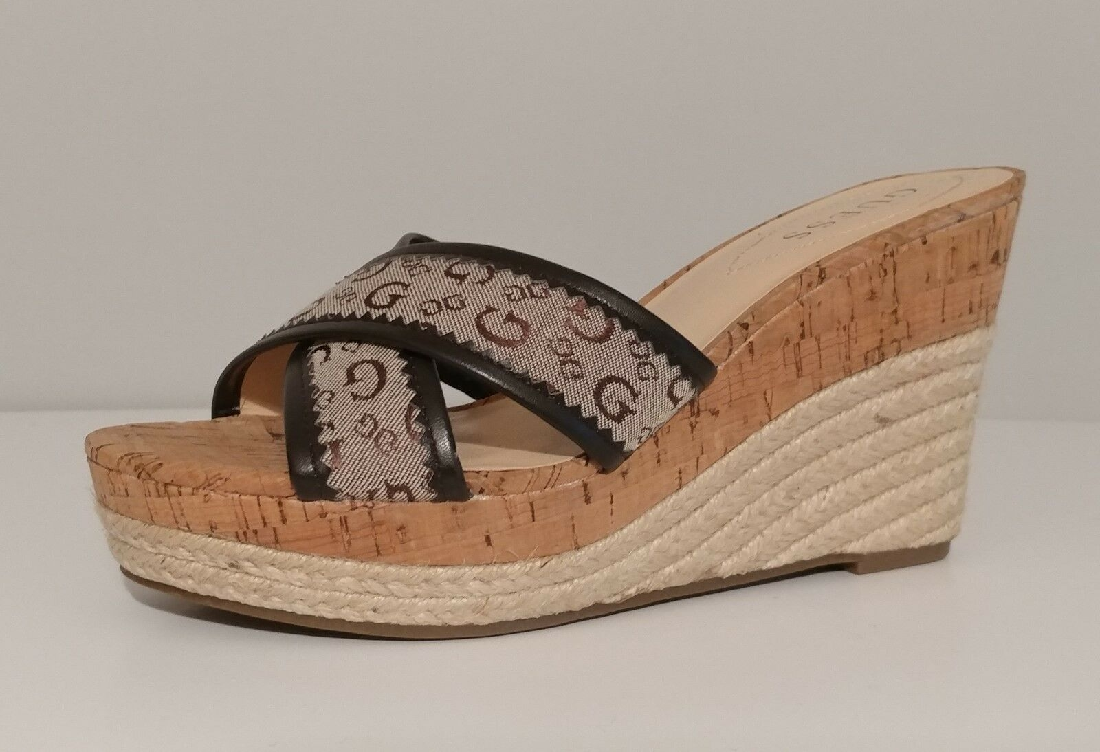Nuevo Sandalias de Cuña Negro Negro Negro Guess    4  Tacones De Corcho tamaño 9M nos 39M EUR  caliente