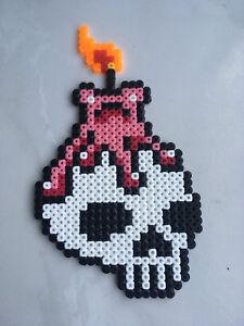 Détails Sur Pixel Art Perles A Repasser Tete De Mort Avec Bougie
