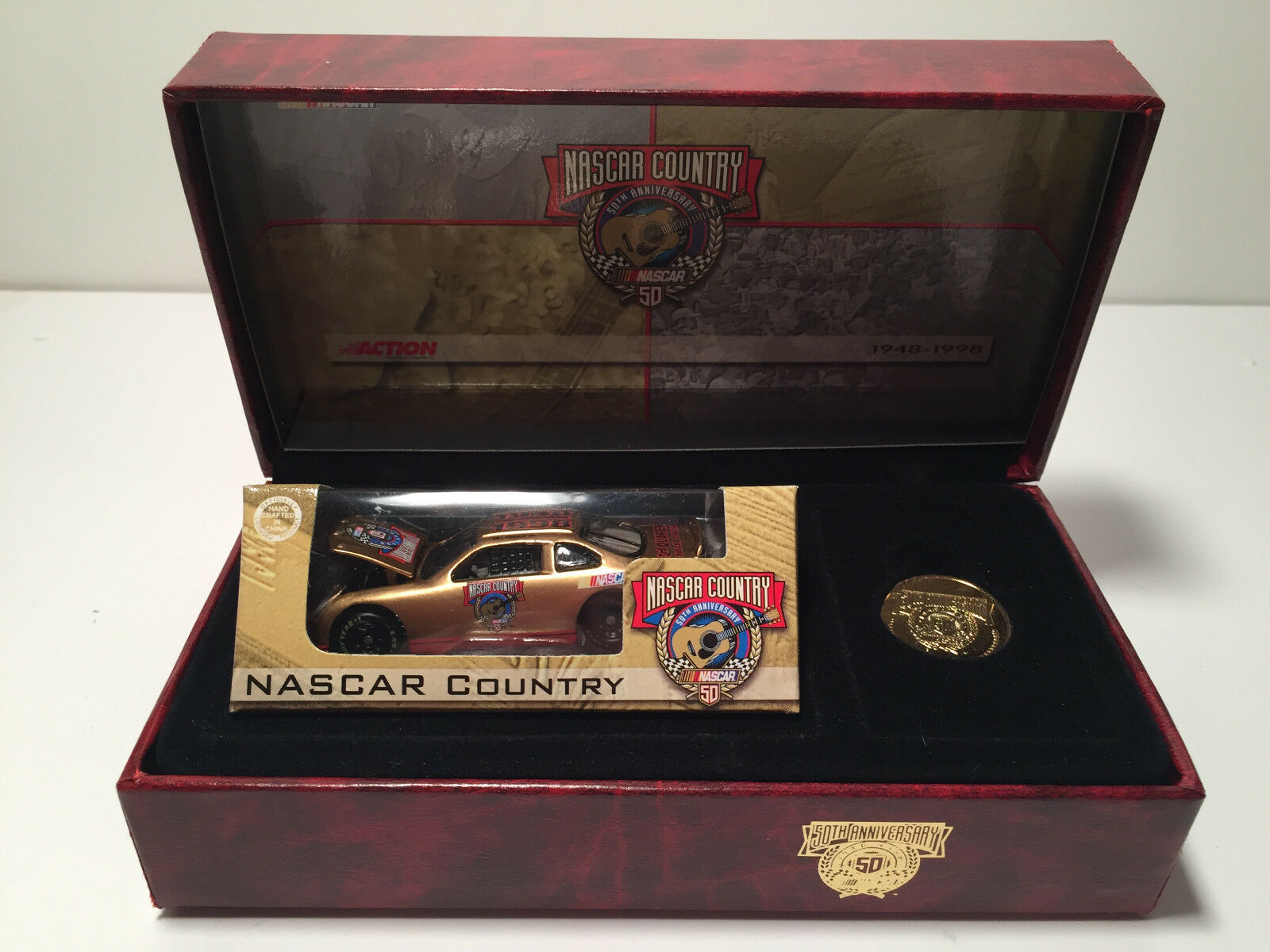 Nascar Country 50th anniversary Bill France Diecast Car and coin in box