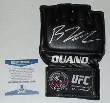 BJ PENN SIGNED AUTO'D UFC OUANO GLOVE BAS BECKETT COA 123 46 80 32 34 CHAMPION