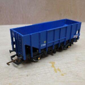 Hornby-039-OO-039-Gauge-BRT-Bulk-Grain-Wagon-No-7799-Rolling-Stock-Blue-SEE-DESC