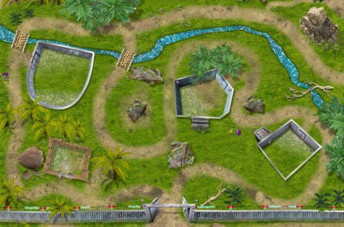 Dino Park SM07 Spielmatte / Spielteppich - ca. 150 x 100 cm