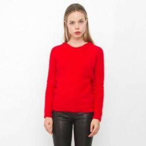 IRO-SARA-Angora-Red-Sweater-RRP-565-As-New-Sz-2-S-M-Made-In-Italy