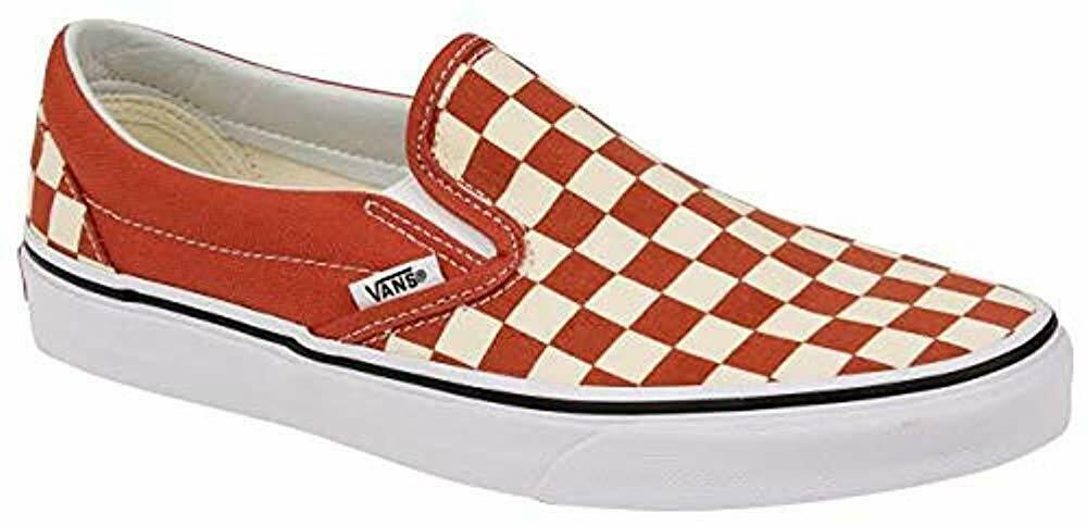Vans Classic Slip-On (Checkerboard) Hot Sauce Sauce Sauce (VN0A38F7ULL) eed3ea