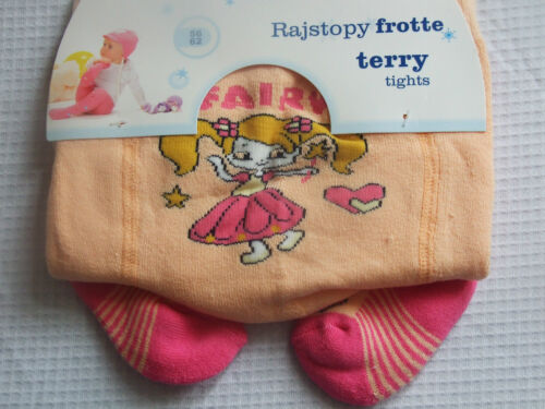 56-98 CM BRAND NEW LOVELY CHARACTER TERRY//FROTTE TIGHTS FOR GIRL//BABY  0-24 M