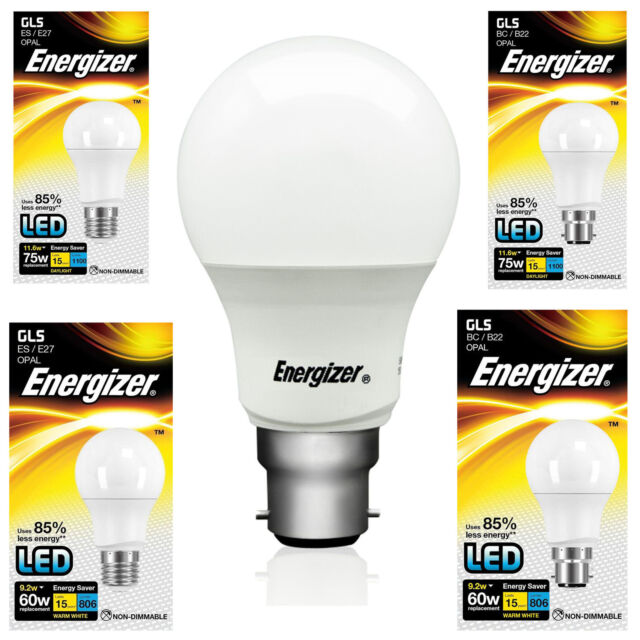 Energizer Energy Saving LED Light Bulb BC B22 ES E27 GLS Globe Daylight Softone