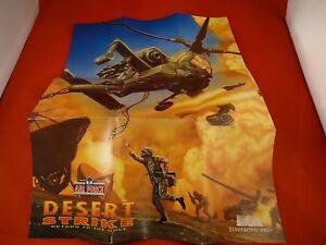 Desert Strike Super Nintendo Snes Foldable Promo Poster Insert Only
