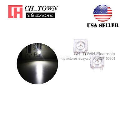 100pcs 3mm Piranha Super Flux White Light Round Top LED Diodes Ultra Bright USA