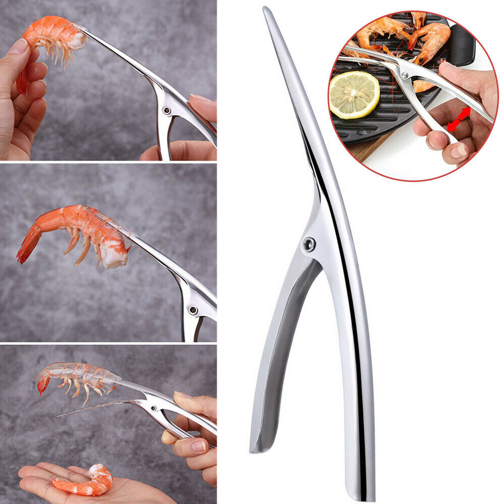 2x stainless steel prawn peeler shrimp peel
