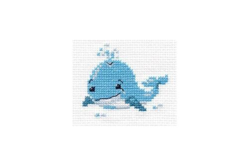 Alisa Counted Cross Stitch Kit Happy Whale