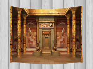 Temple Women Tapestry Wall Hanging Egyptian Bohemian For Room Bedspread Decor