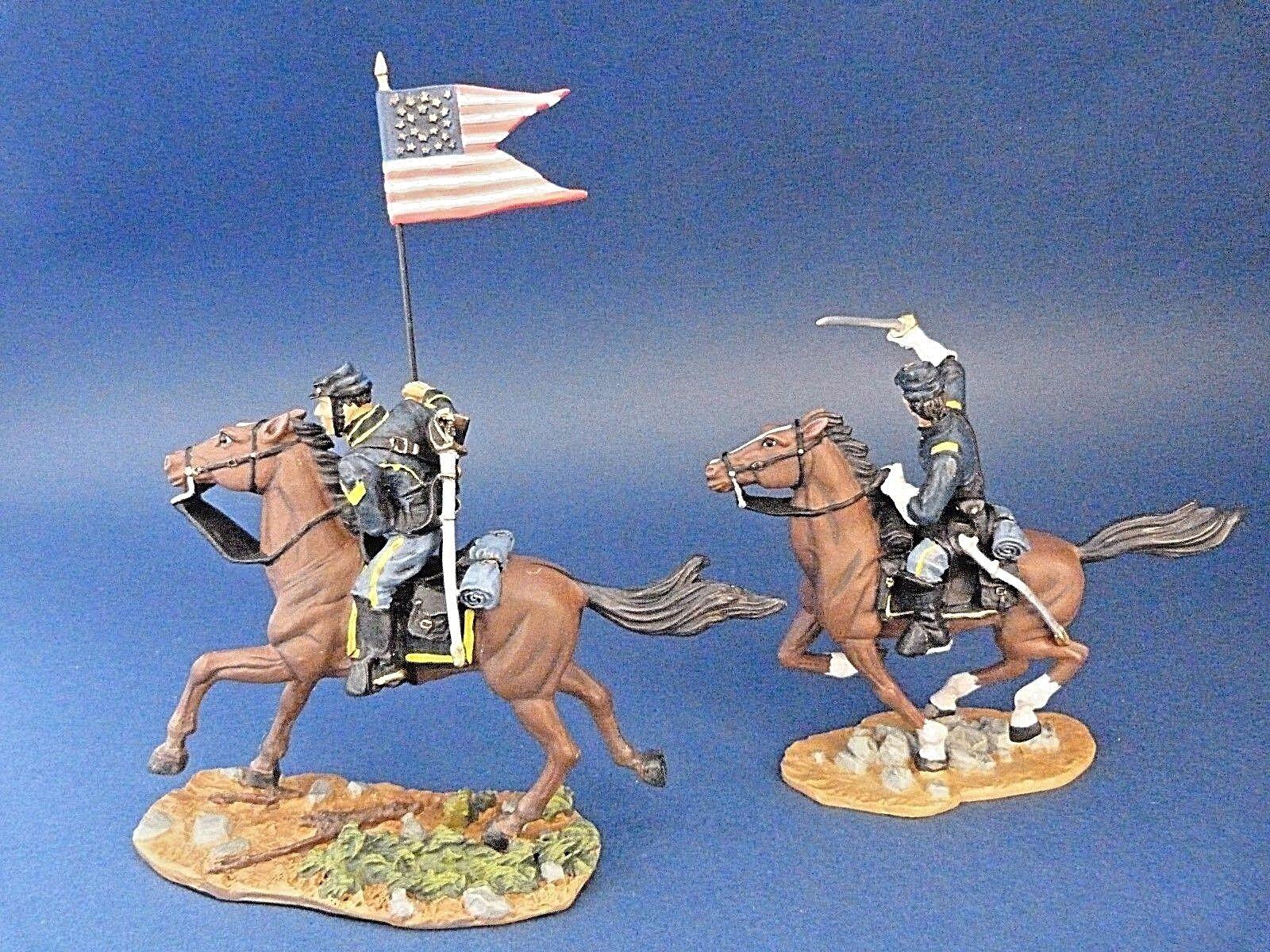 Soldats de plomb BRITAINS ref. 17371 - ACW - Guerre de sécession - 2 cavaliers