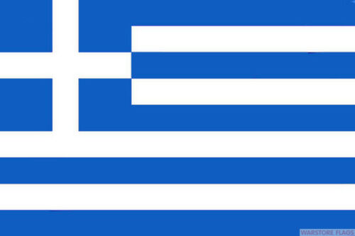 """GREECE BUDGET FLAG small 9/""""x6/"""" GREAT FOR CRAFTS GREEK ATHENS"""