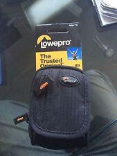 Lowepro RIDGE 10 BLACK Compact Digital Camera Case Bag Pouch wit Strap Brand New