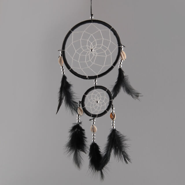 Black Dream Catcher With feathers Hanging Decoration Ornament Craft Gift