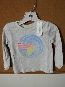 NWT-Gymboree-Baby-Toddler-Long-Sleeve-Gray-Wave-Top-Size-2T-NEW